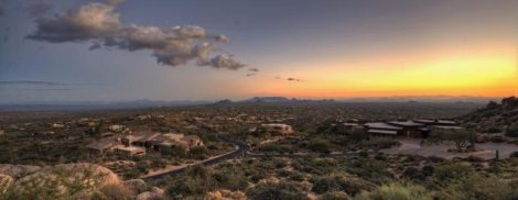 DESERT MOUNTAIN SUNSET