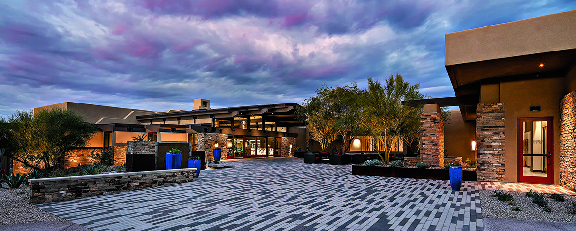 Main Entrance to the New Sonoran Clubhouse & Fitness